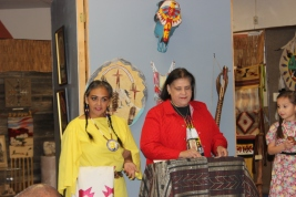 American Indian grandmother and her talented grandkids